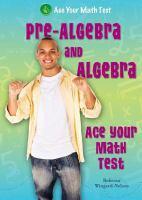 Cover image for Pre-algebra and algebra