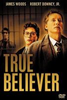 Cover image for True believer