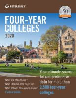 Cover image for Peterson's four-year colleges