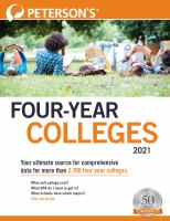 Cover image for Peterson's four-year colleges 2021.