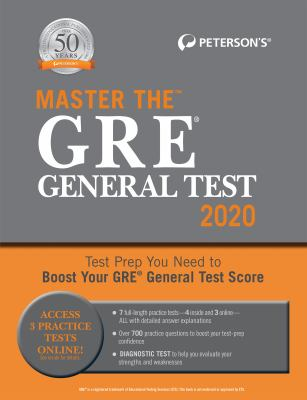 Cover image for Peterson's master the GRE general test
