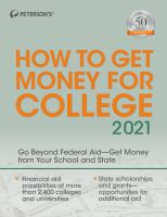 Cover image for Peterson's how to get money for college 2021.