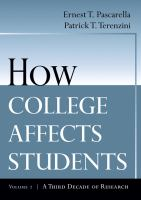 Cover image for How college affects students : a third decade of research