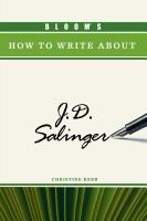 Cover image for Bloom's how to write about J.D. Salinger