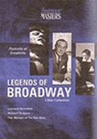 Cover image for Legends of Broadway. Disc 1, Leonard Bernstein: reaching for the note