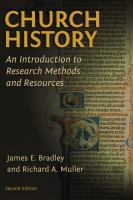 Cover image for Church history  an introduction to research methods and resources