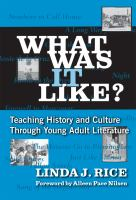 Imagen de portada para What was it like? : teaching history and culture through young adult literature