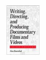 Cover image for Writing, directing, and producing documentary films and videos