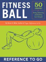 Cover image for Fitness ball deck 50 exercises for toning, balance, and building core strength