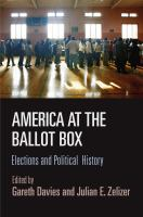 Cover image for America at the ballot box  elections and American political history
