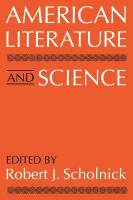 Cover image for American literature and science