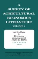Cover image for Agriculture in economic development, 1940s to 1990s