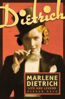Cover image for Marlene Dietrich life and legend