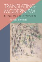 Cover image for Translating modernism Fitzgerald and Hemingway