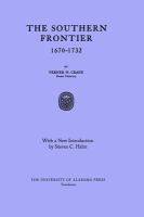 Cover image for The Southern frontier, 1670-1732