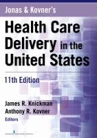 Cover image for Jonas and Kovner's health care delivery in the United States