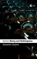 Cover image for Sartre's Being and nothingness a reader's guide