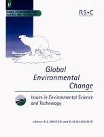 Cover image for Global environmental change