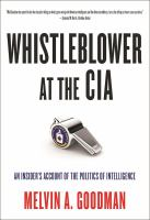 Cover image for Whistleblower at the CIA : a path of dissent