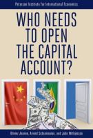 Cover image for Who needs to open the capital account!
