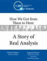 Cover image for How we got from there to here : a story of real analysis