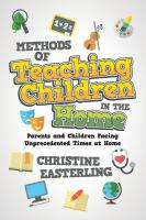 Cover image for Methods of teaching children in the home : parents and children facing unprecedented times at home