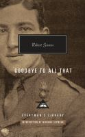 Cover image for Goodbye to all that