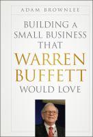Imagen de portada para Building a small business that Warren Buffett would love