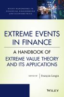 Cover image for Extreme events in finance  a handbook of extreme value theory and its applications