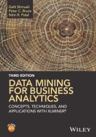 Cover image for Data mining for business analytics  concepts, techniques, and applications in Microsoft Office Excel with XLMiner
