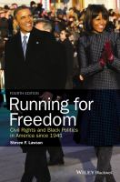 Cover image for Running for freedom  civil rights and black politics in America since 1941
