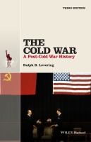 Cover image for The Cold War  a post-Cold War history