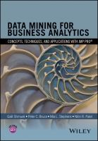 Cover image for Data mining for business analytics  concepts, techniques, and applications in JMP Pro