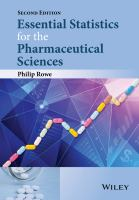 Cover image for Essential statistics for the pharmaceutical sciences