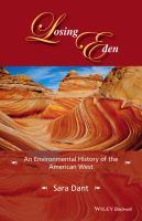 Cover image for Losing Eden  an environmental history of the American West