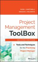 Cover image for Project management toolbox  tools and techniques for the practicing project manager