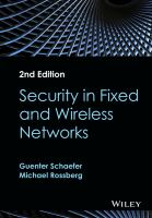 Cover image for Security in fixed and wireless networks