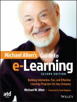 Cover image for Michael Allen's guide to e-learning  building interactive, fun, and effective learning programs for any company