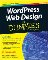 Cover image for WordPress Web design for dummies