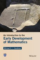 Cover image for An introduction to the early development of mathematics