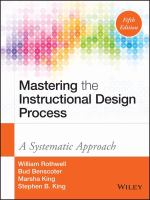 Cover image for Mastering the instructional design process  a systematic approach