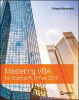 Cover image for Mastering VBA for Microsoft Office 2016
