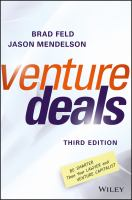 Cover image for Venture deals be smarter than your lawyer and venture capitalist
