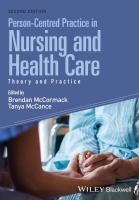 Cover image for Person-centred practice in nursing and health care  theory and practice