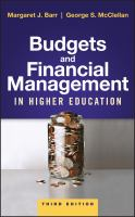 Cover image for Budgets and financial management in higher education