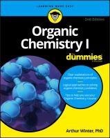 Cover image for Organic chemistry I for dummies