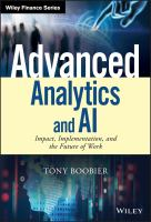 Cover image for Advanced analytics and AI impact, implementation, and the future of work