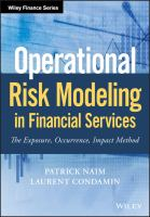 Cover image for Operational risk modeling in financial services the exposure, occurrence, impact method