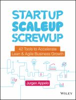 Cover image for Startup, scaleup, screwup 42 tools to accelerate lean & agile business growth