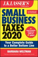 Cover image for J.K. Lasser's small business taxes 2020 : your complete guide to a better bottom line